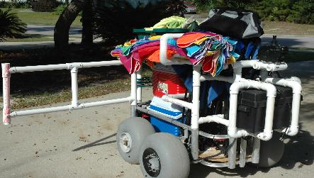 Build A Pvc Beach Cart Bing Images